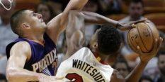 Zmaga Miamija, Whiteside poškodovan
