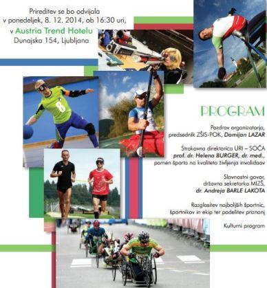Vabilo Invalid sportnik leta 2014 01