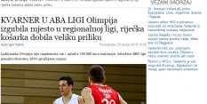 HRVAŠKI VIR: Olimpija brez Lige ABA!
